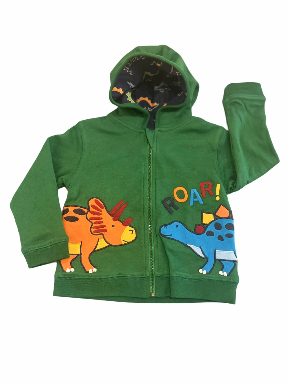 Jojo Dino Applique Hooded Sweatshirt