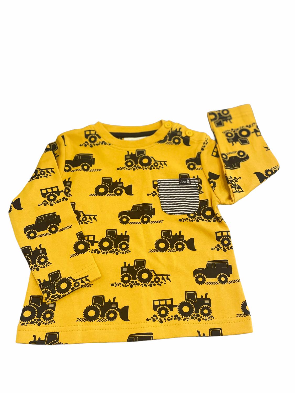 Jojo Yellow Tractor Pocket Longsleeve