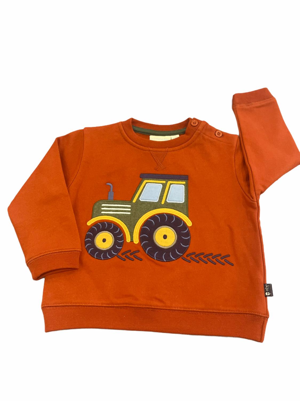 Jojo Rust Tractor Crewneck Sweatshirt