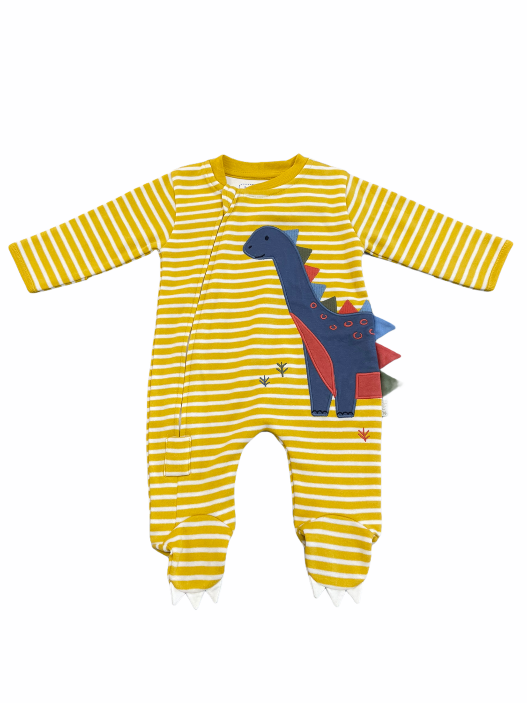 Jojo zipper footie newborn