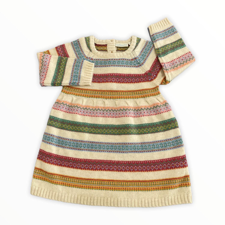 Jojo Natural Stripe Sweater Dress
