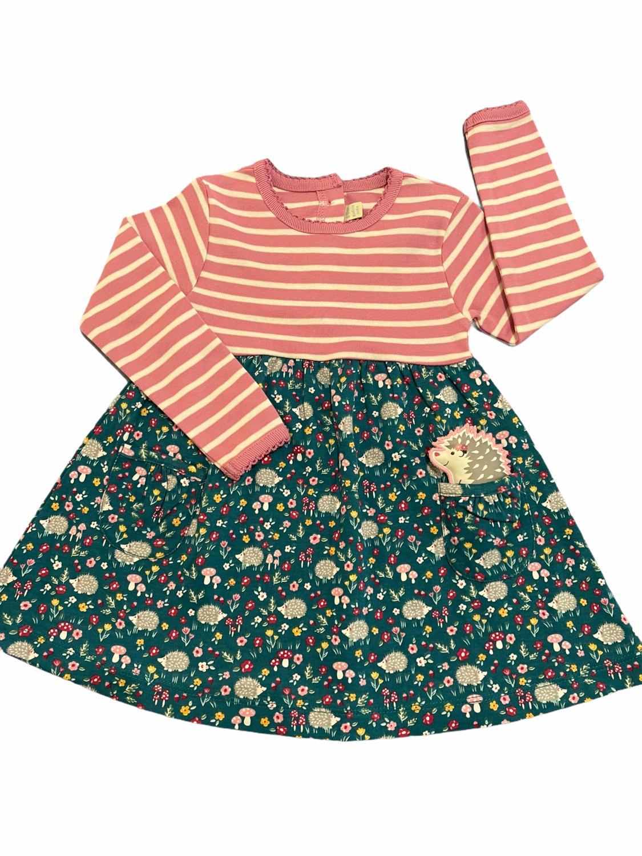 Jojo Multi Fabric Striped Floral Dress