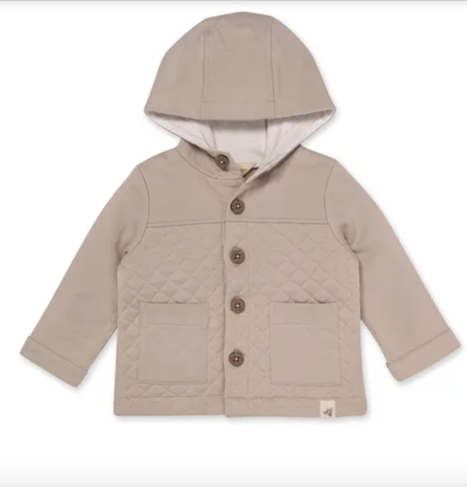 Burts Bees Quilted Utility Jacket Fossil