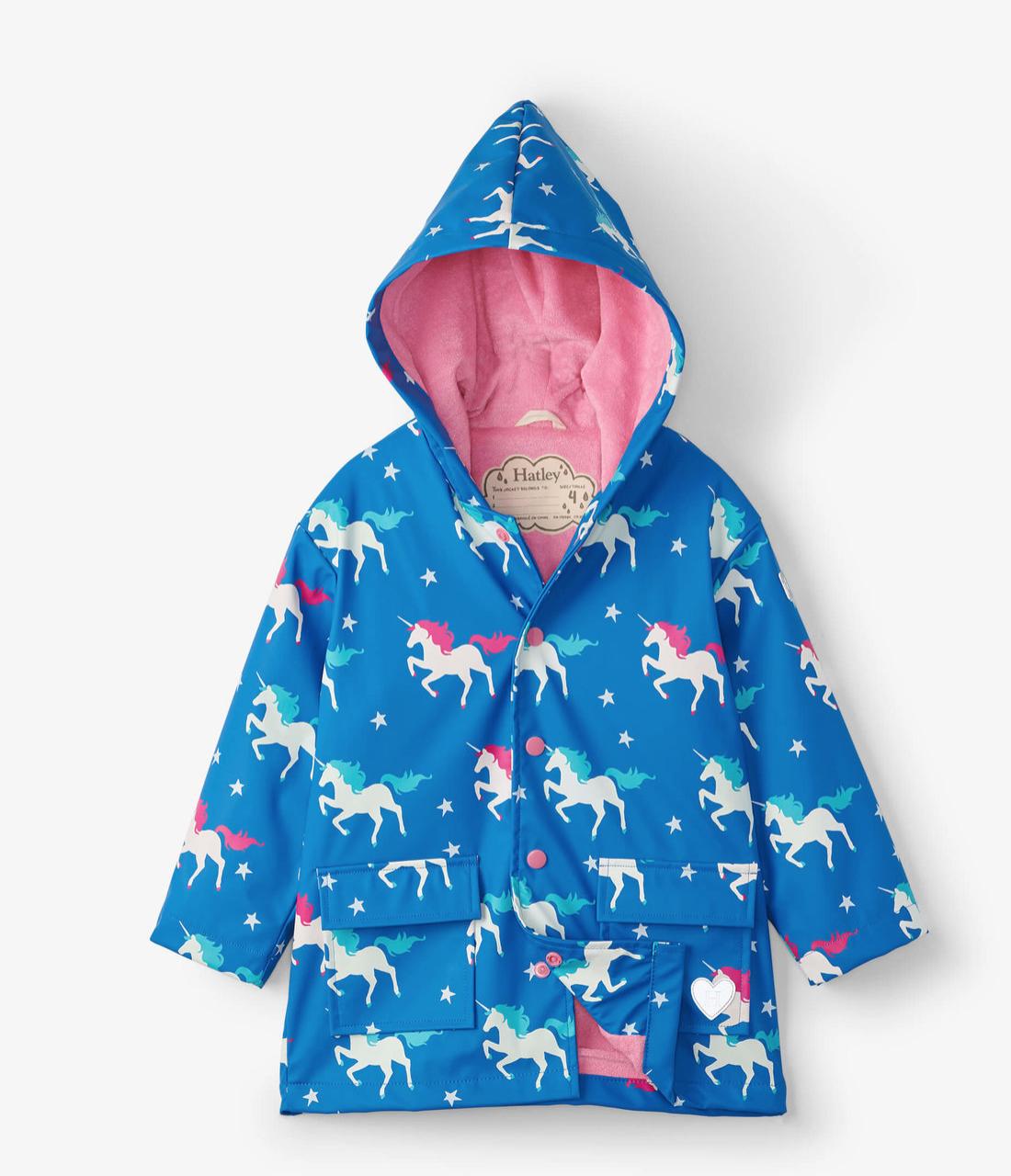 Hatley Twinkle Unicorns Color Changing Raincoat