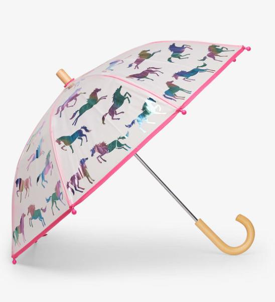 Rainbow Horses Clear Umbrella