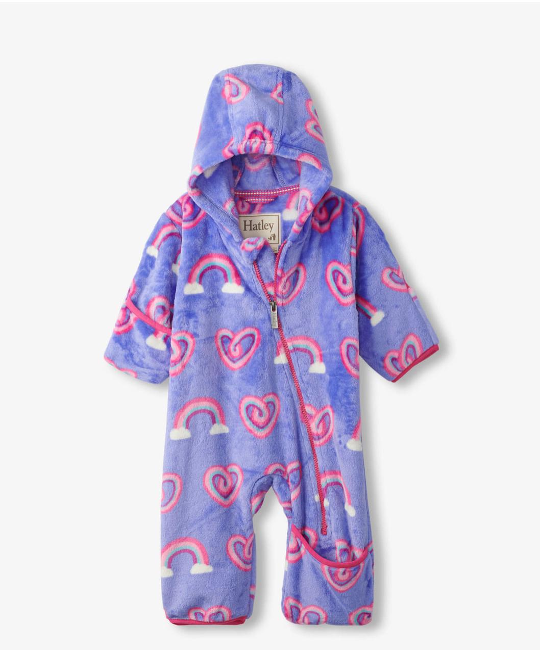 Twisty Rainbow Hearts Fleece Bundler