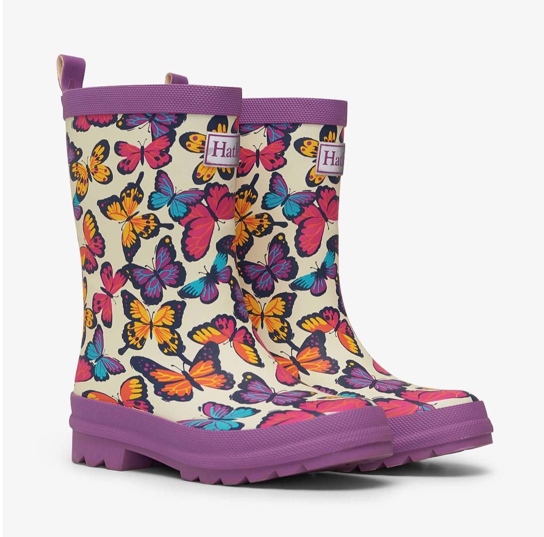 Kaleidoscope Butterflies Rain Boots