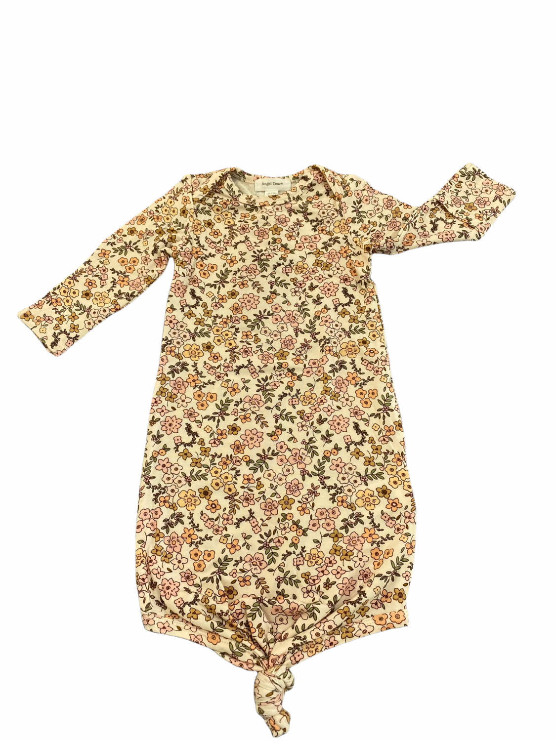 Vintage Calico Knotted Gown