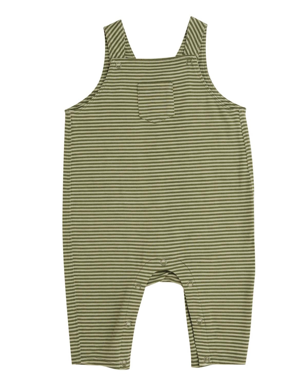 Moose Green Stripe Pocket Coveralls