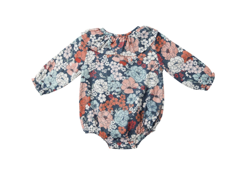 Garden Club Ruffle  Collar Bodysuit