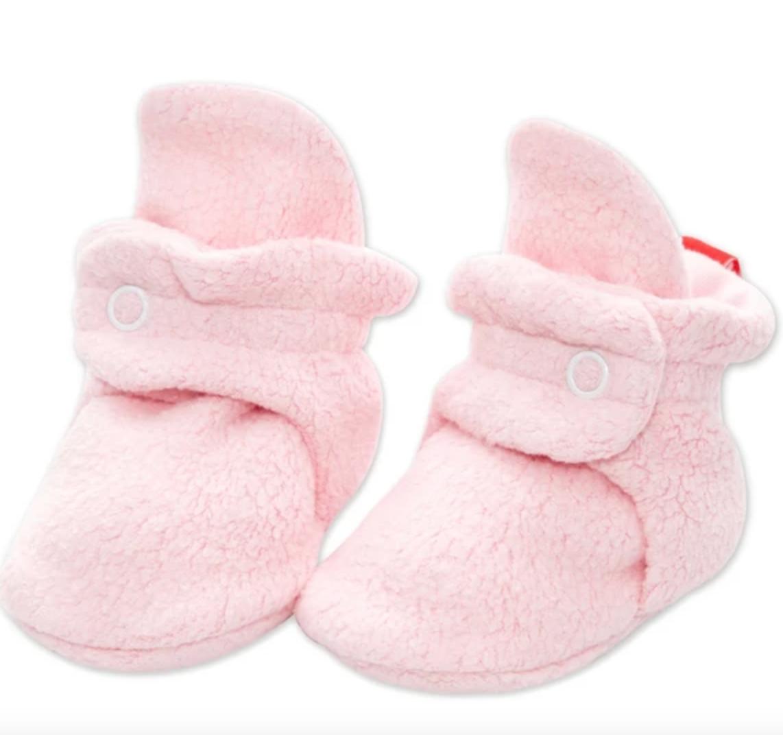 Zutano Baby Pink Booties