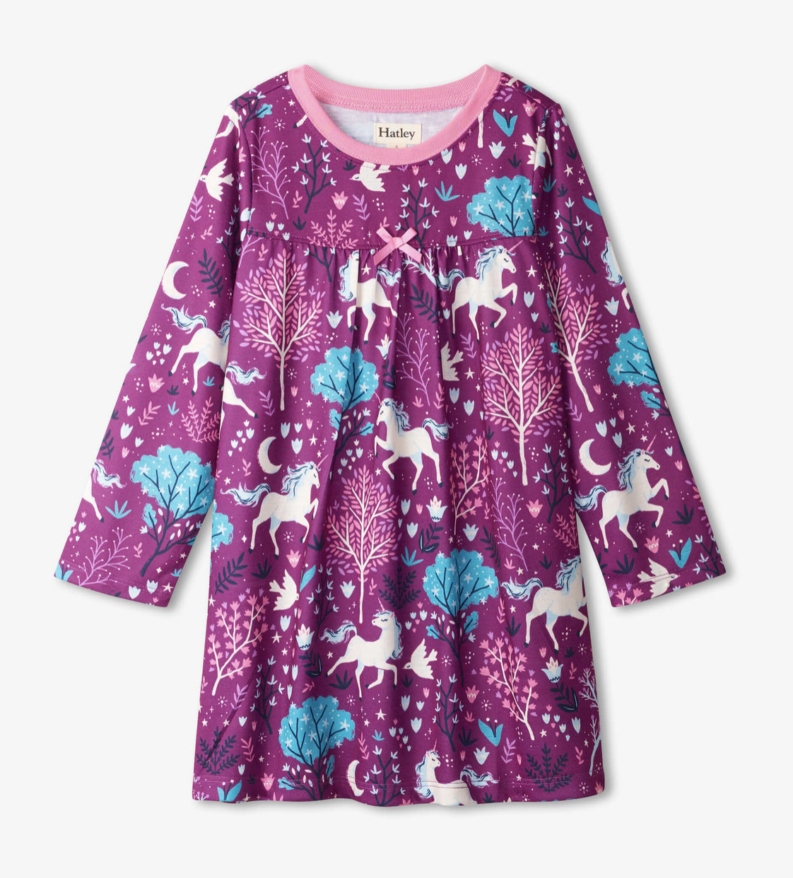 Enchanted Forest L/S Nightdress purple