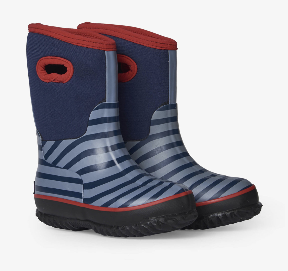 Blue Stripe All Weather Boots