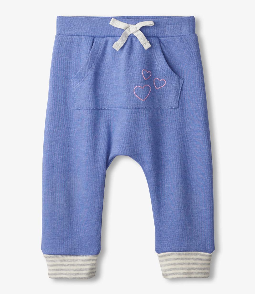 blue melange baby kanga pants