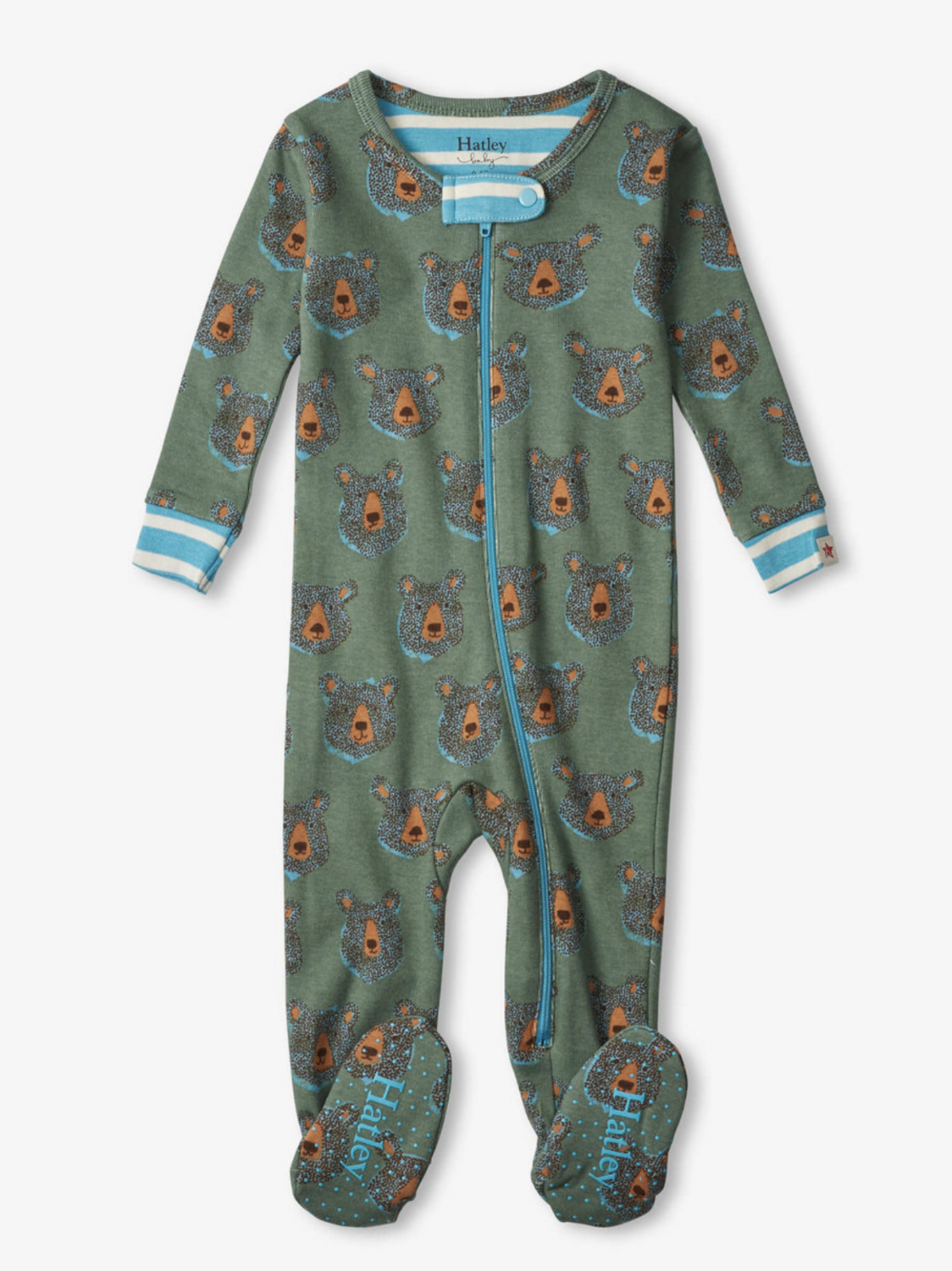 blue bears organic footed coverall