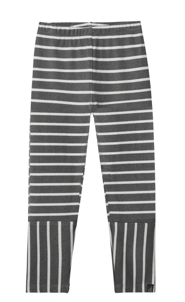 Grey& Cream Striped Leggings