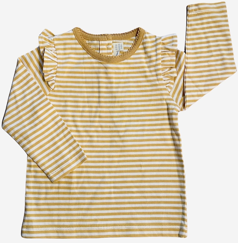 ruffle sleeve stripe tee 6-12