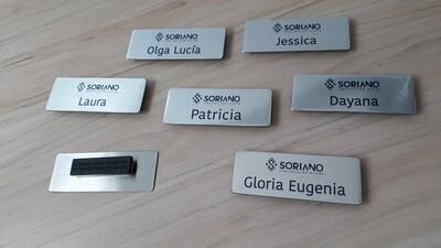Placas Identificación de Personal