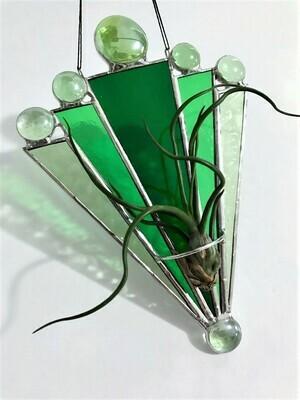 Art Deco Fan Green
