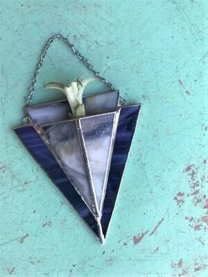 Grey Purple Arrow Pocket