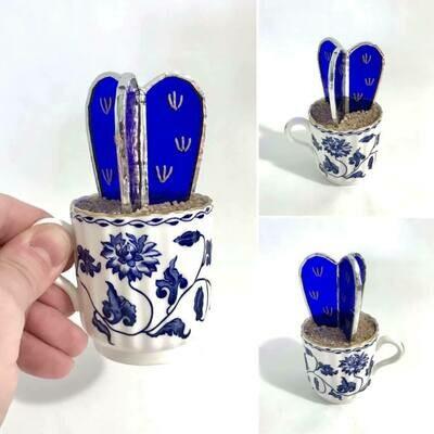 Mini Cobalt Barrel Cactus