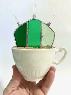 Green Crystal Crown Flat Barrel