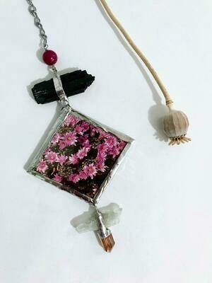 Pink Bouquet Suncatcher