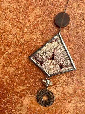 Burgundy Diamond Ornament