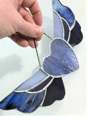 Blue Purple Winged Heart