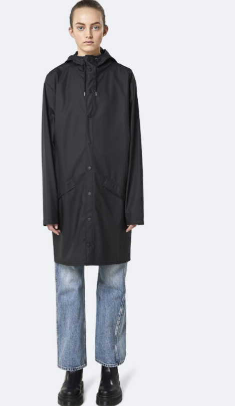 Rains Black Rain Coat