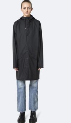 Rains Black Rain Coat
