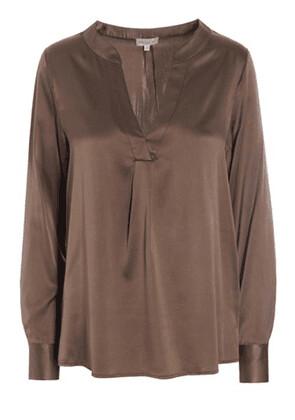 Santena Chocolate Silk Shirt