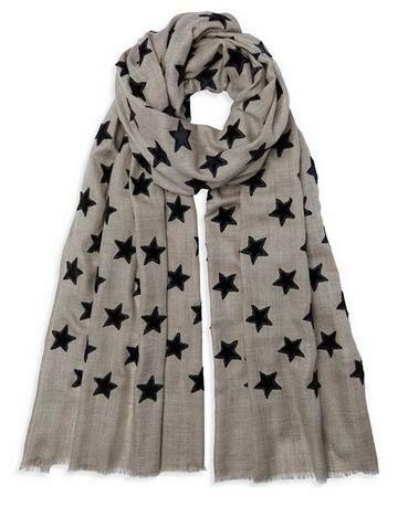 Cashmere Velvet Star Scarf