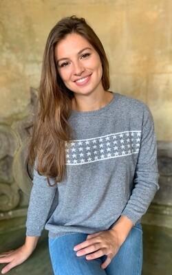 Lizzie Grey Star Sweater