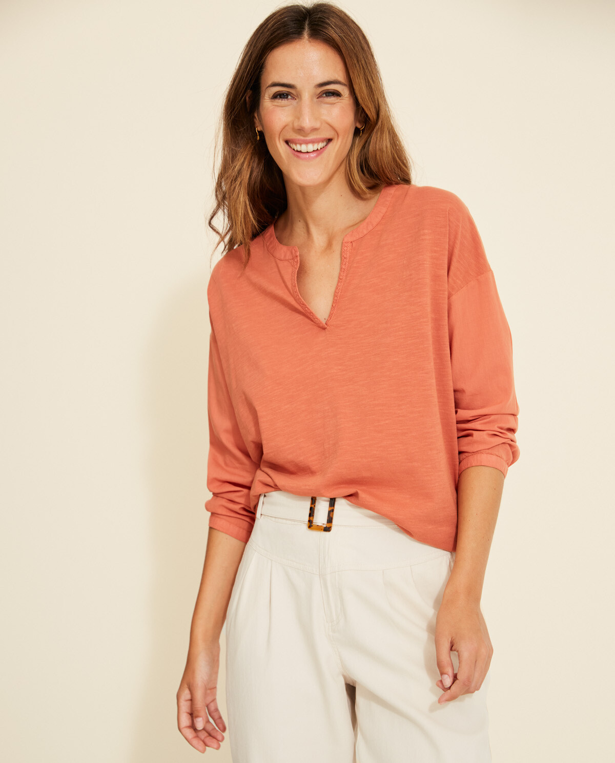 Henley Cotton Top