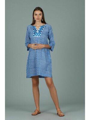 Ivory Blue Dress