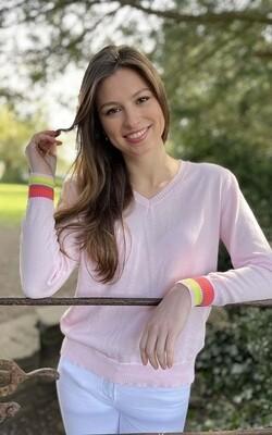 Hettie Pink Rainbow Knit