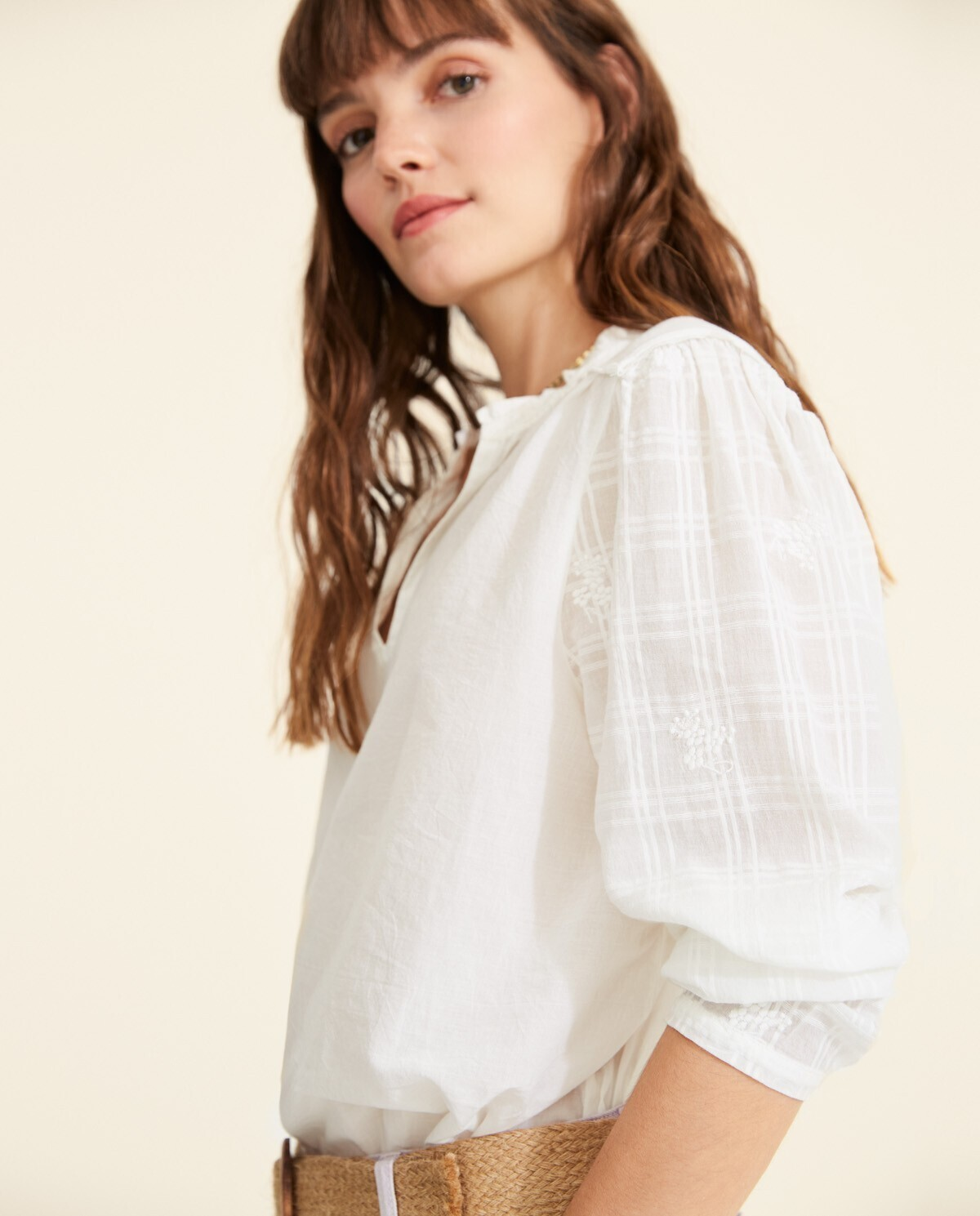 Holly White Blouse 34245