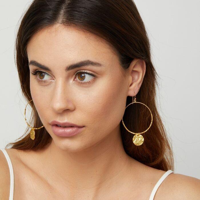Dominique Hoop Earrings