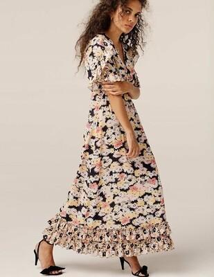 Fran Silk Dress Confetti Black