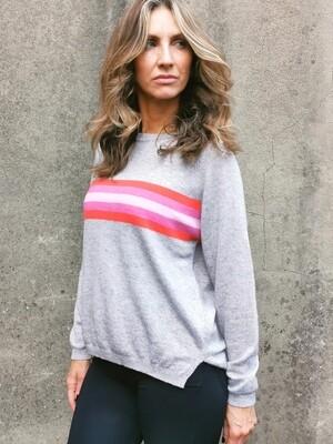 Davina  Stripe Sweater O/S