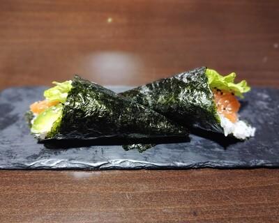 #1158- Temaki salmão (2 un.)