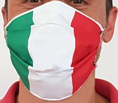 Mascherina facciale di protezione in 3 strati di TNT, con Fantasia ITALIA