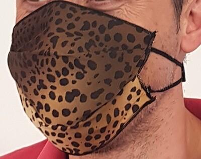 Mascherina facciale in TNT Fantasia LEOPARDO-GIAGUARO