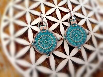 Azteekse - tribal oorbellen