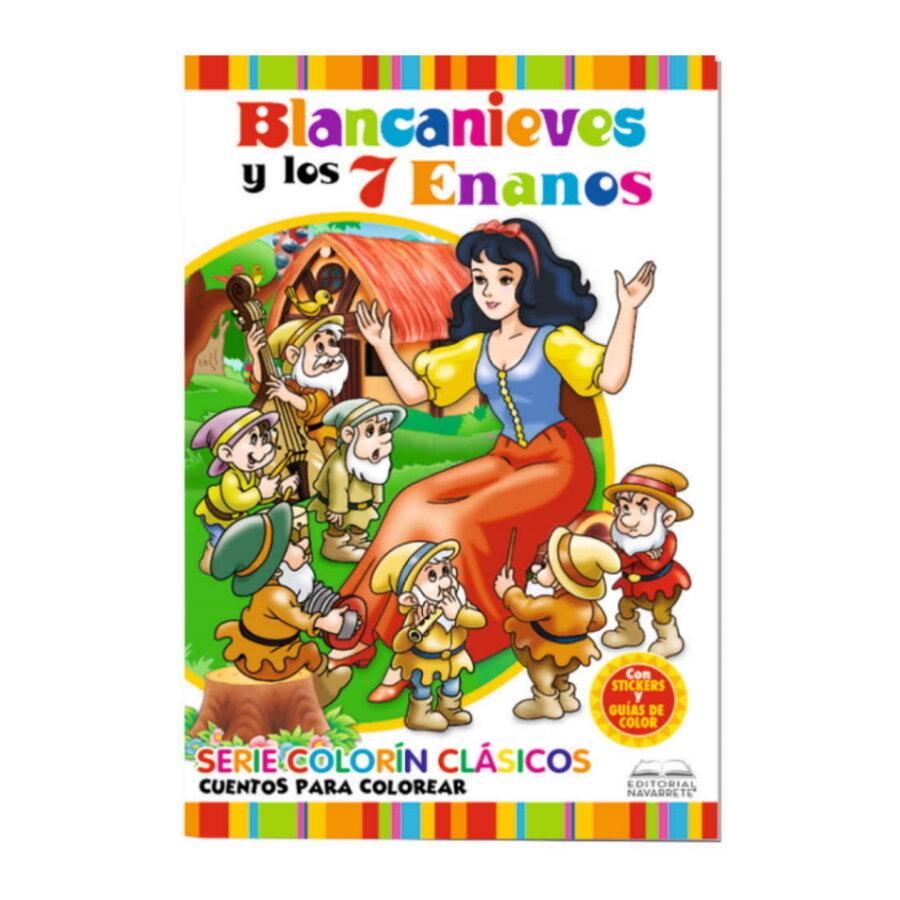 CUENTO COLORÍN A4 - BLANCA NIEVES Y LOS 7 ENANOS