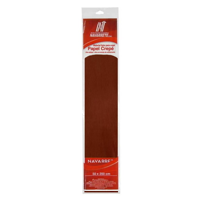 PAPEL CREPE COLOR CHOCOLATE X 1 PLIEGO
