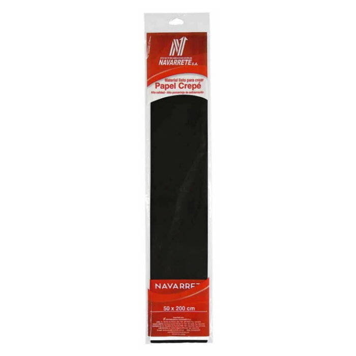PAPEL CREPE COLOR NEGRO X 1 PLIEGO