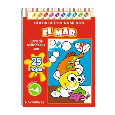COLECCIÓN COLOREA POR NÚMERO - EL MAR