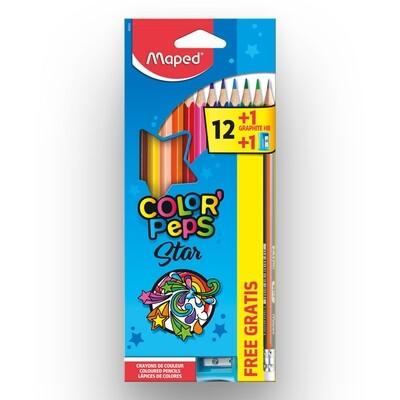 COLORES COLOR PEPS X12+1LAP.+1TAJADOR